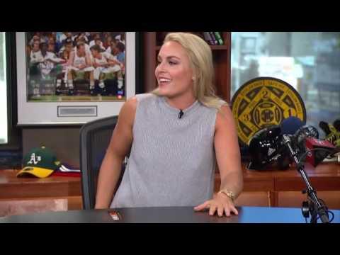Lindsey Vonn arm wrestles McLovin