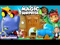 SURPRISE TOYS MAGIC + Surprise Eggs and Jake and the Neverland Pirates VS Captain Hook + Blaze Toys