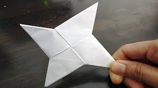 DIY - How To Make a Paper Ninja Star Shuriken - Origami | Paper Ninja Star | Shuriken