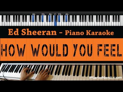 Ed Sheeran - How Would You Feel - Piano Karaoke / Sing Along / Cover with Lyrics
