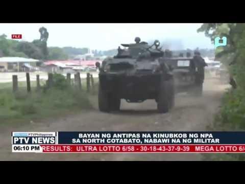 Bayan ng Antipas na kinubkob ng NPA sa North Cotabato, nabawi na ng militar