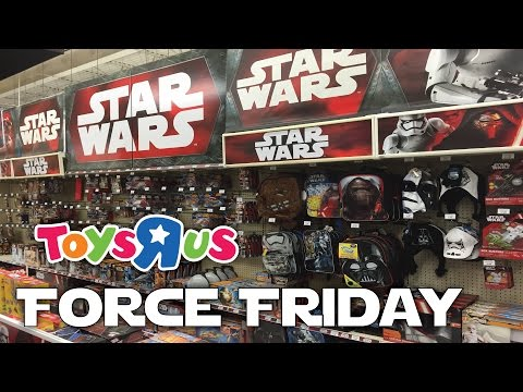 FORCE FRIDAY Midnight Shopping At Toys R Us Star Wars: The Force Awakens