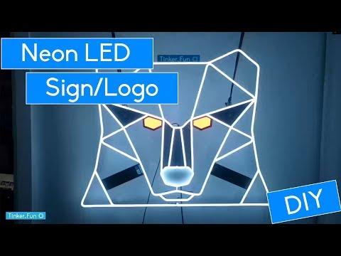 DIY - Build a LED Neon Logo - Flexible Silicon LED Stripe