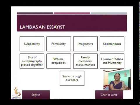 discuss charles lamb as an essayist