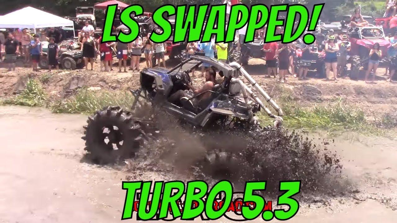 TURBO 5 3 LS SWAPPED POLARIS RAZOR IN THE MUD!!!