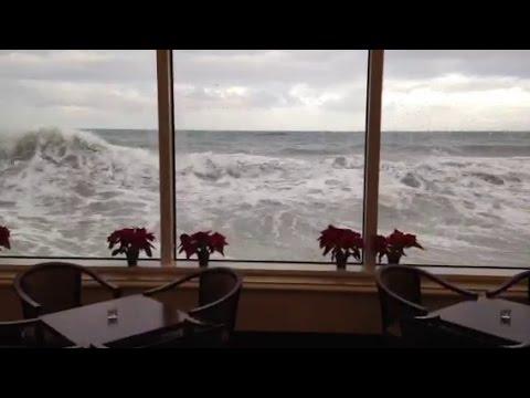 Waves Crash Against The Marine Room Youtube