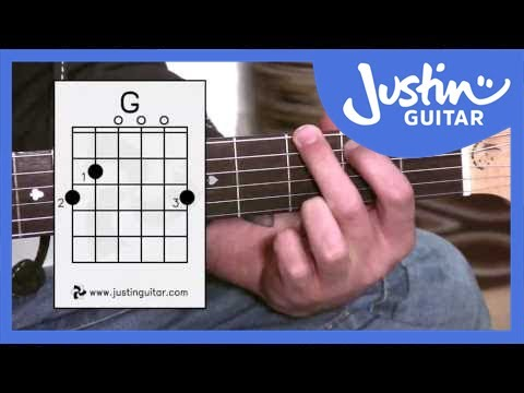 G Chord - Guitar For Beginners - Stage 3 Guitar Lesson - JustinGuitar [BC-131]