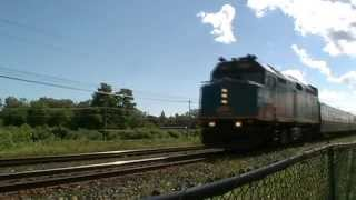 Railfanning VIA, CN and CP in Brighton, ON. With some Nice Horn Shows