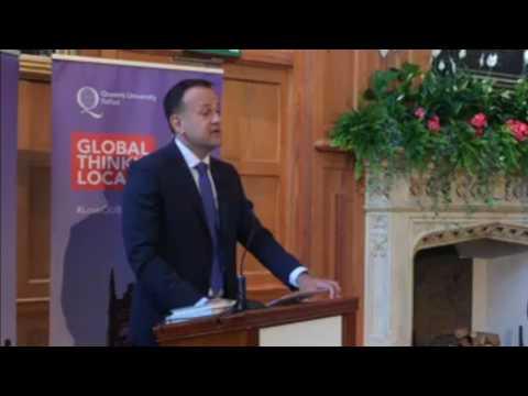 Irish Taoiseach Leo Varadkar TD addressing Queen's University Belfast