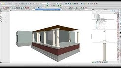 Porch with Columns - Using Moldings