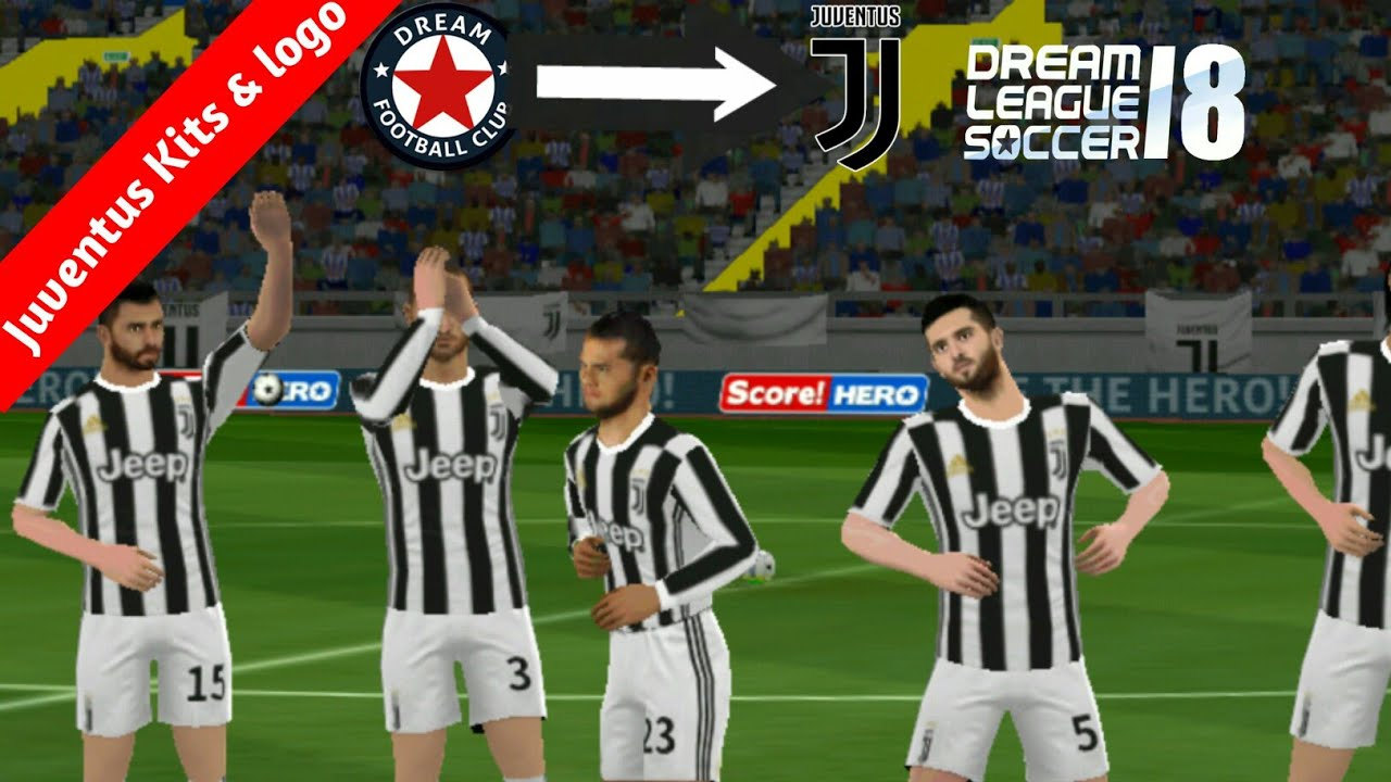 reputable site 03c71 9ee19 How to Import Juventus Logo And kits In Dream League Soccer 2018