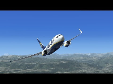 VRyanair PMDG 737-800 NGX | London Stansted EGSS to Calamocha LECH (Spain)  ✈ FSX SE