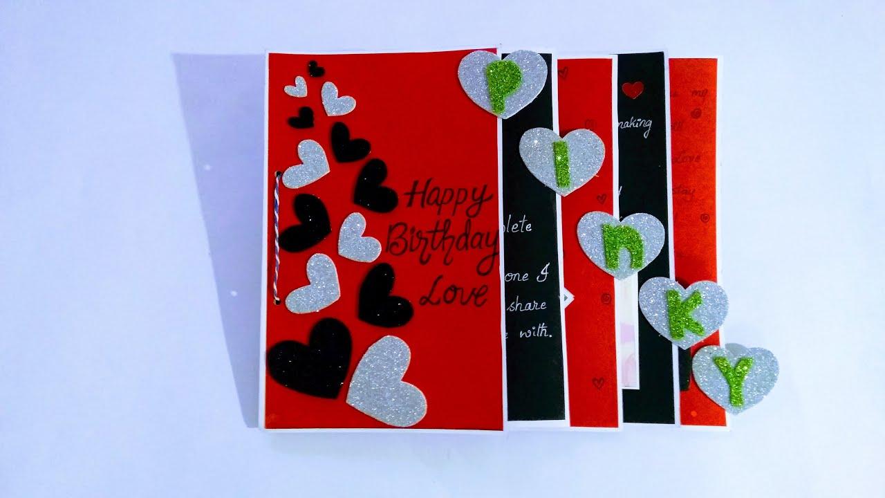 Beautiful Handmade Birthday Card For Boyfriend Girlfriend L Complete Tutorial Youtube