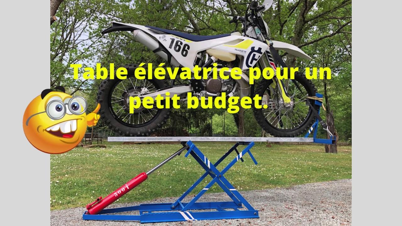 Table élévatrice pour moto. - YouTube