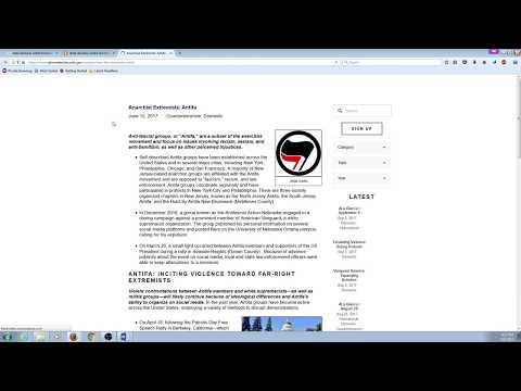 Antifa on Google Vs DuckDuckGo