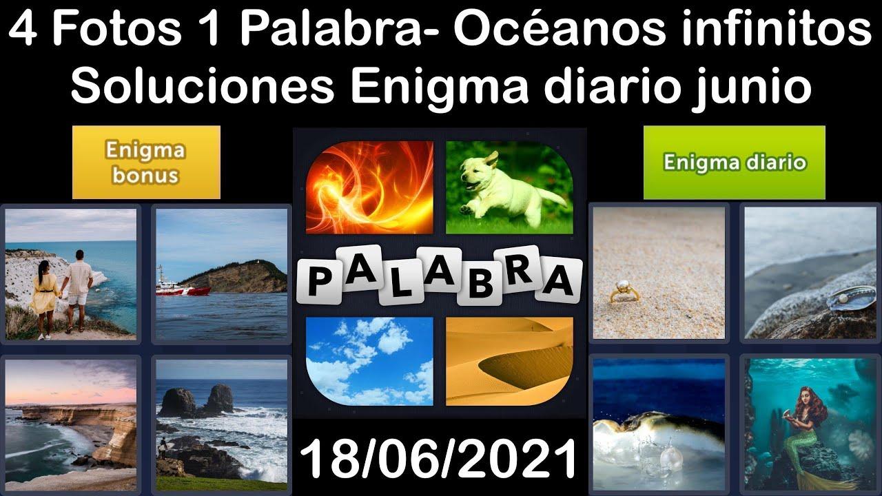 4 Fotos 1 Palabra - Océanos infinitos - 18/06/2021 - Solucion Enigma diario - junio de 2021