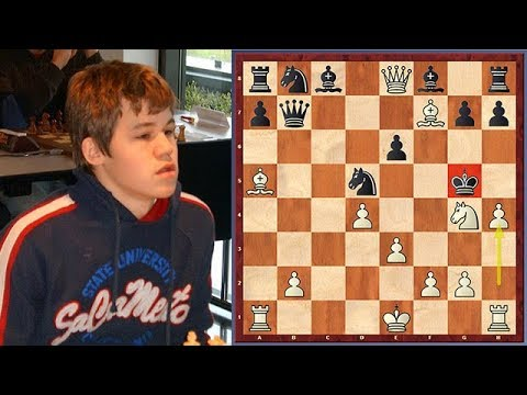 Magnus Carlsen's Immortal King Hunt (Age 13)