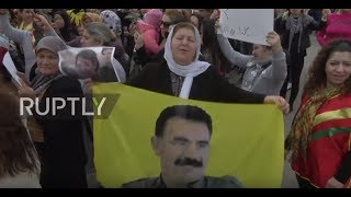 Lebanon: Pro-Kurdish activists protest outside US embassy over Afrin