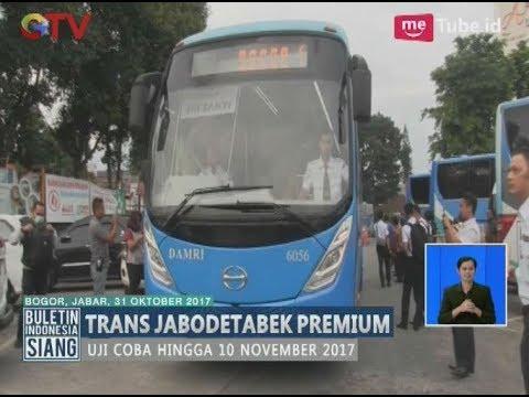 Uji Coba Bus Trans Jabodetabek Premium Rute Jakarta - Bogor Digelar - BIS 31/10
