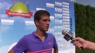 Vít Kopřiva po čtvrtfinále deblu na turnaji Futures v Pardubicích