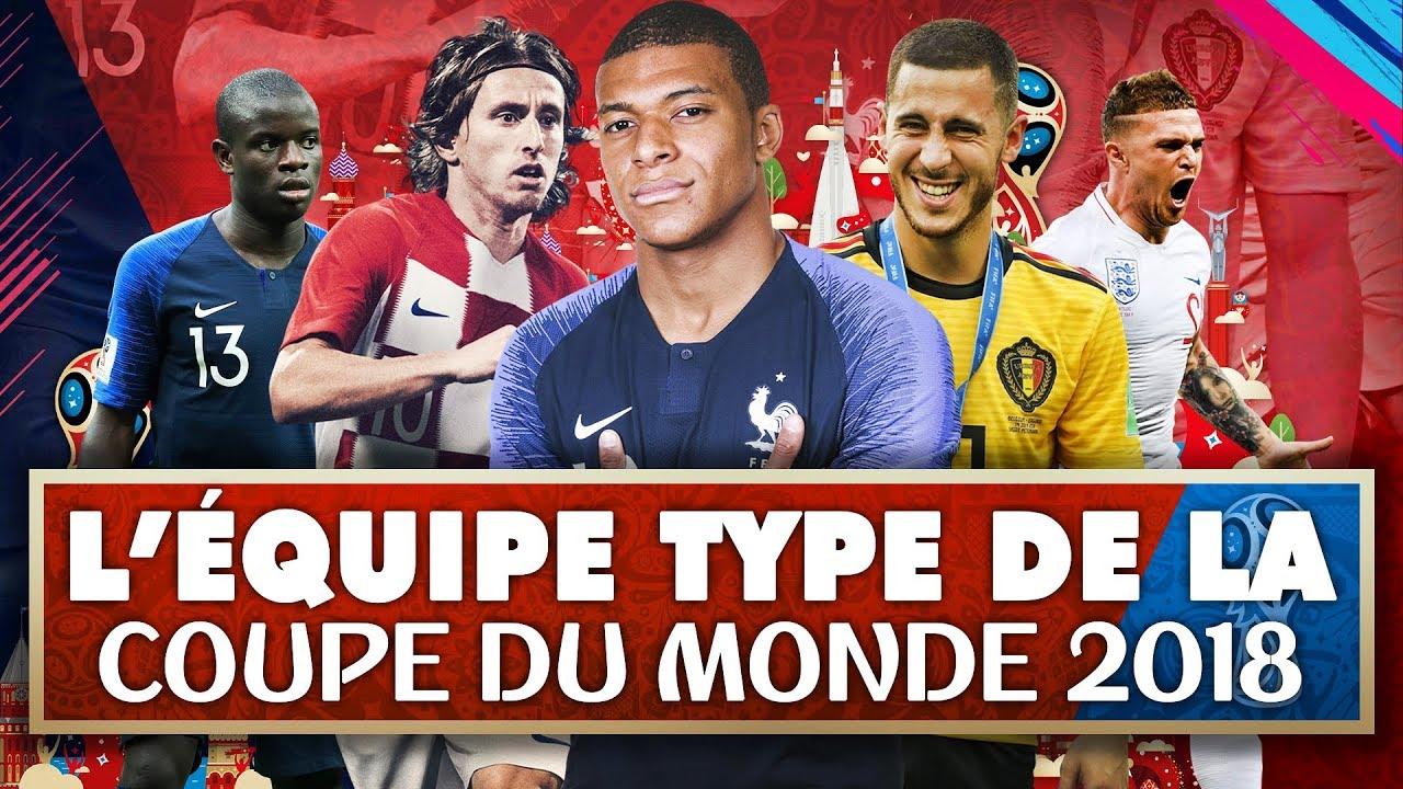 """Résultat de recherche d'images pour """"l'équipe type de la coupe du monde 2018"""""""