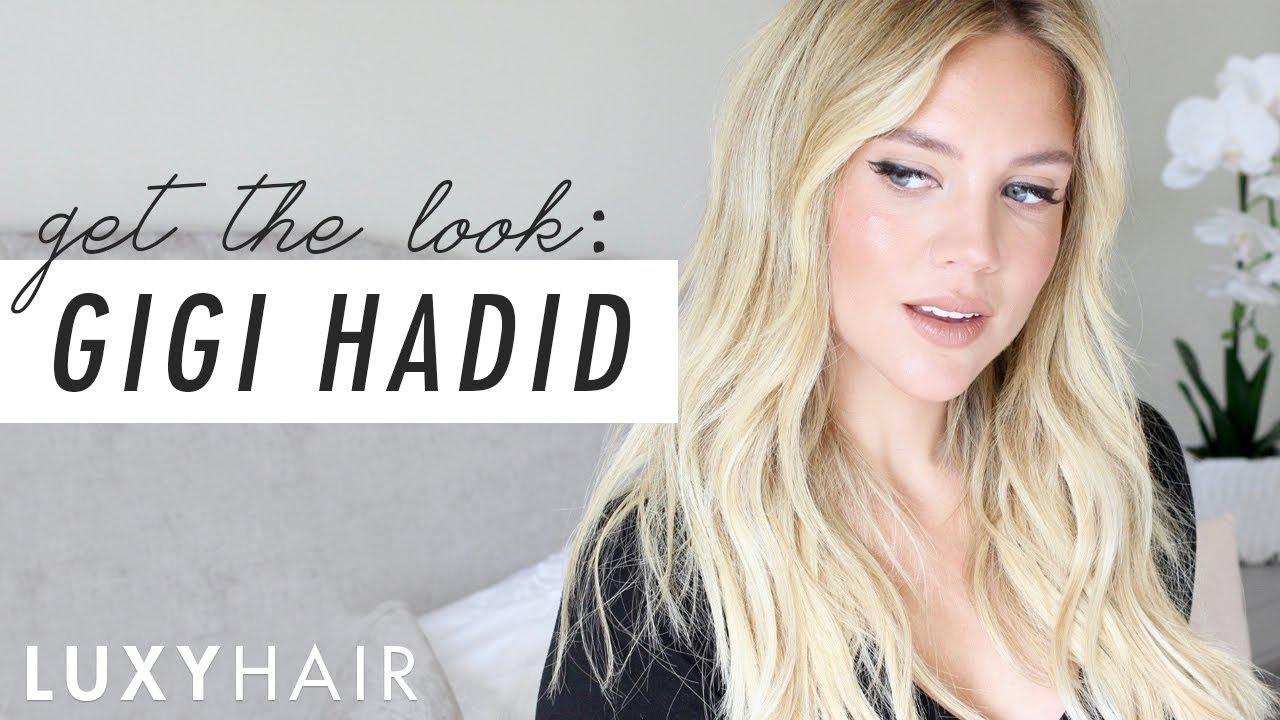 Gigi Hadid Inspired Messy Beach Waves   Luxy Hair - YouTube