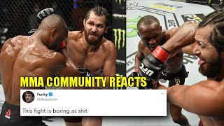 MMA Community reacts to 'boring' main event in Kamaru Usman dominates Jorge Masvidal - UFC 251