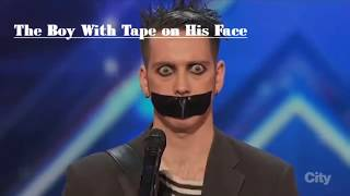 the most brilliant comedy act the boy with tape on his face