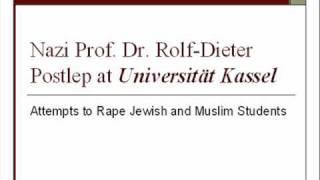 Nazi Prof. Dr. Rolf-Dieter Postlep @ MA Global Political Economy (GPE), Universität Kassel