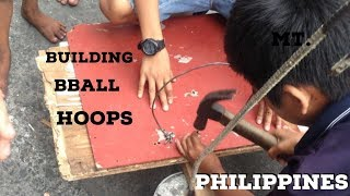 Kids Making Basketball Hoops in the Philippines