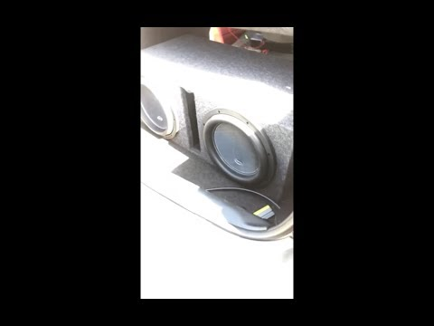2 American Bass D4 12s Dodge Charger 2400 Watts RMS On Digital Design DMF 2800