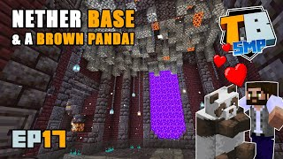 Nether base beginnings & brown panda friend!! | Truly Bedrock Season 2 [17] | Minecraft Bedrock