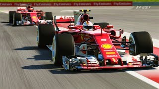 AWESOME TEAMMATE BATTLE | F1 2017 Online