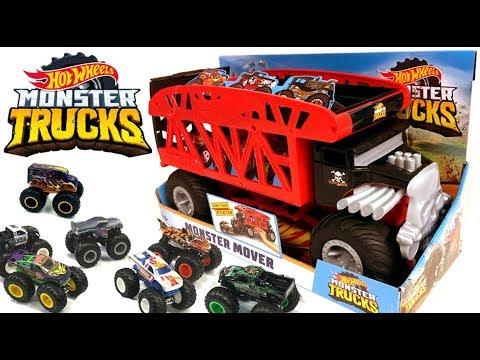 Boneshaker Monster Mover Review Hot Wheels Monster Trucks Hauler Youtube