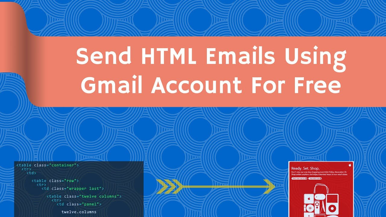 Send HTML Email in Gmail Along images