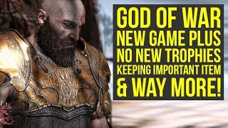 God of War New Game Plus NEW INFO, No Trophies, Final Update & More! (God of War 4 New Game Plus)