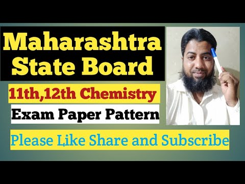 #Maharashtra State Board H.S.C Chemistry Exam Paper Pattern / By Afroz Sir