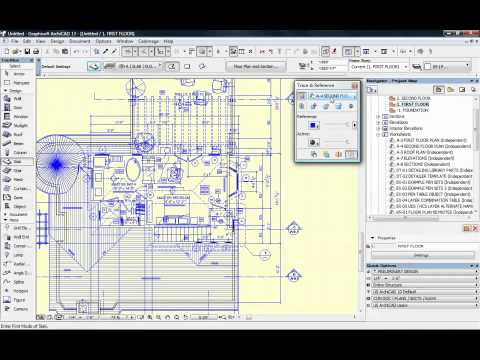 Superb ArchiCAD Tutorial How to Trace D Drawings to Quickly Create a D Model