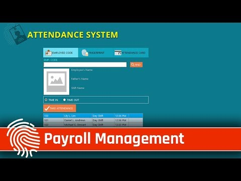 Attendance And Payroll Management System Software
