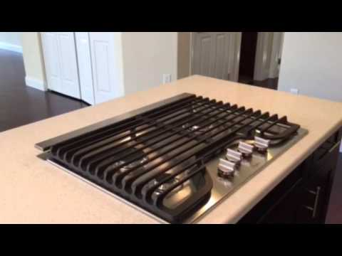 Kitchen Island Cooktop with Popup Exhaust Fan  YouTube