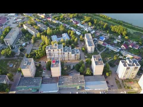 п. Строитель, Тамбовский р-н. С высоты 120-150м. Аэросъемка 4K. Лето 2018.