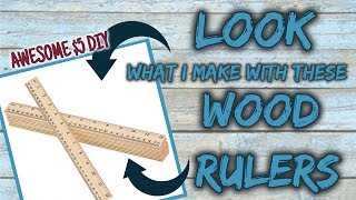 LOOK what I make with these WOOD RULERS | $5 DIY