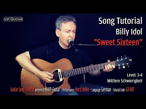"Guitar Song Tutorial: ""Sweet Sixteen"" Billy Idol"