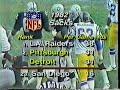 Los Angeles Raiders vs San Diego Chargers 1982 2nd Half Week 9