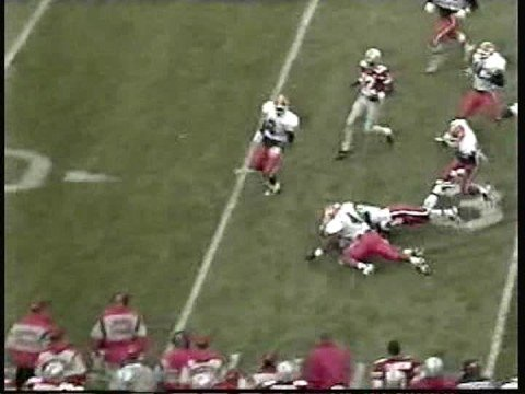 Eddie George Runs All Over Notre Dame And Illinois