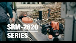 See ECHO's SRM 2620 Brushcutter Series in action and the features that make it so special.