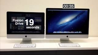 iMac Fusion Drive vs Hard Drive Shootout