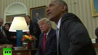 RAW: Obama welcomes president-elect Trump at White House thumbnail