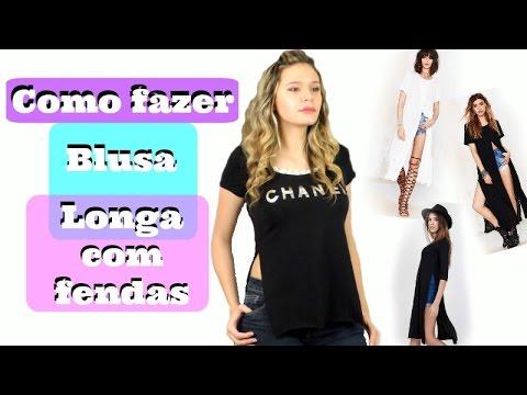 DIY - como fazer maxi blusa - customizando...