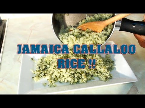 Jamaica Callaloo Rice The Best Recipes From Jamaica !! Chef Ricardo Cooking